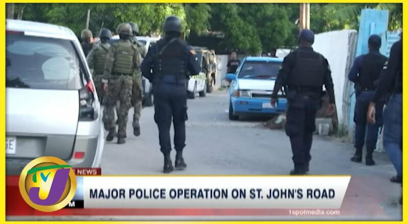 Major Police Operation on St. John's Road in Spanish Town | TVJ News - Oct 9 2021 1