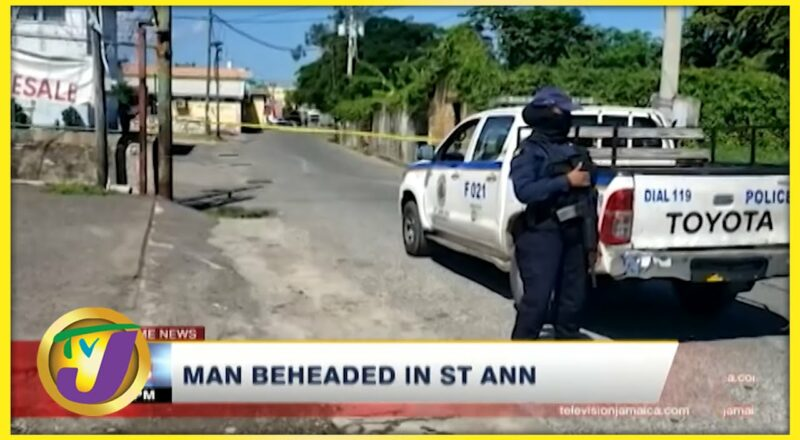 Mentally ill Man Behead Man in St. Ann | TVJ News - Oct 8 2021 1