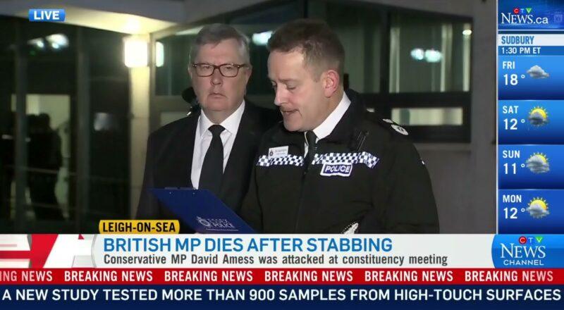 U.K. counterterror officers investigating MP's stabbing death 1