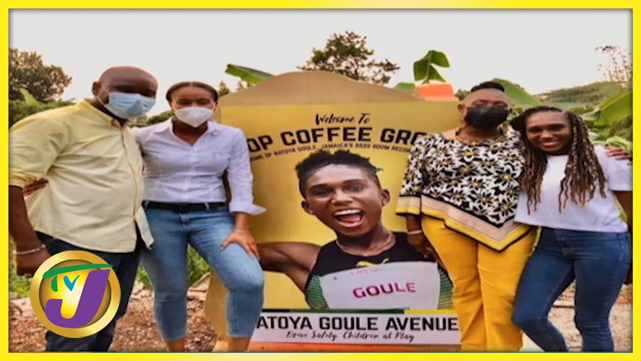 Natoya Goule - Road Renamed for Olympian   TVJ Smile Jamaica 9